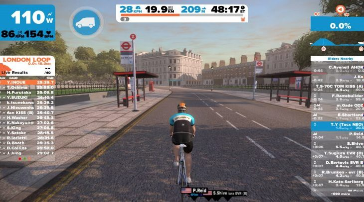 Zwift Mobile Link Appでマップ表示
