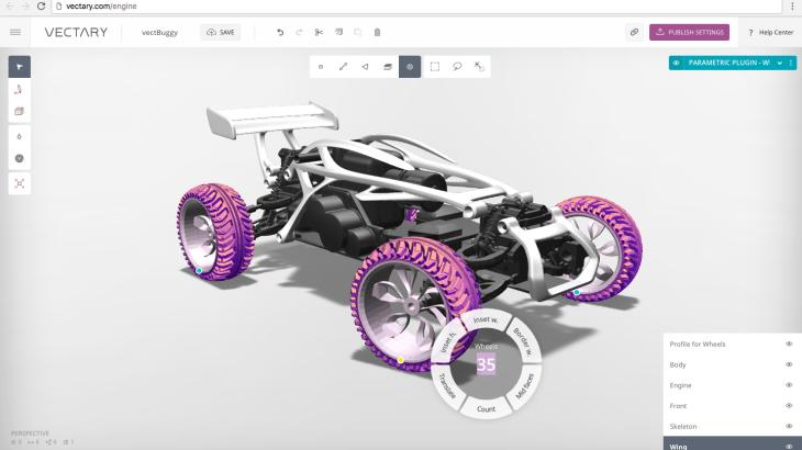 ブラウザ型3Dモデリング VECTARY が使えるようになってきた。