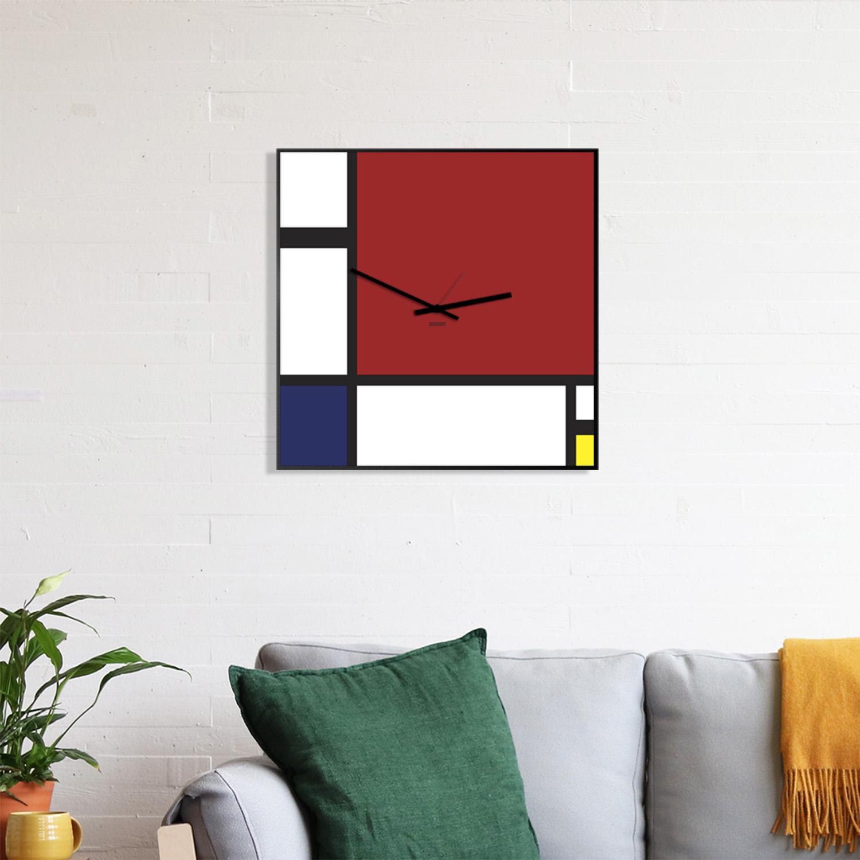 Amo gli orologi da parete, e ne avevo già uno in cucina; Mondrian Orologio Da Parete Design Designobject