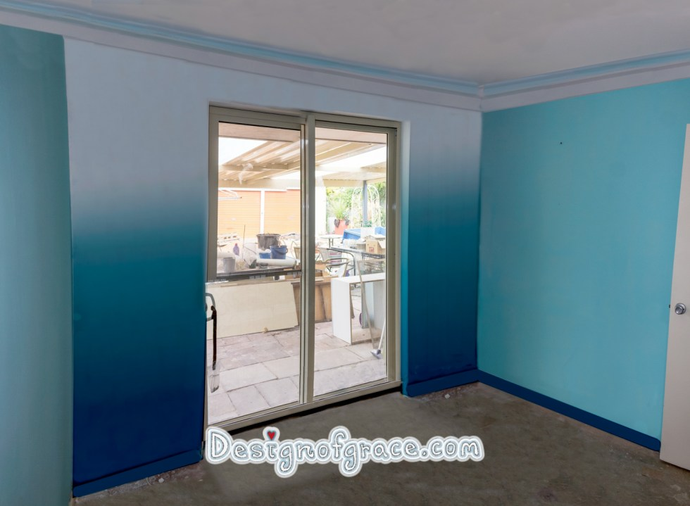 Artist impression of 2 parts white, 3 parts lagoon teal and 1 part Antarctic