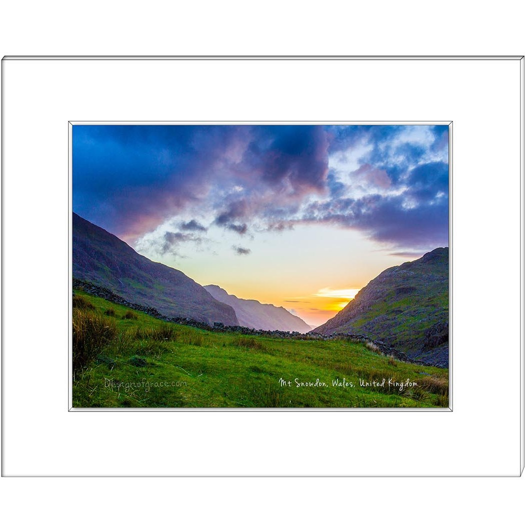 13 Snowdon Mountain Valley Sunset, Wales, UK