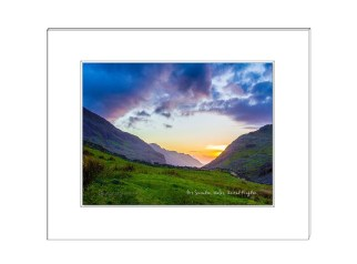 Snowdon Mountain Valley Sunset, Wales, UK