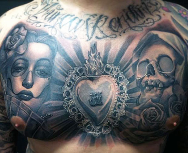 Manu 3d Name Wallpapers Carlos Torres Amazing Chest Tattoo