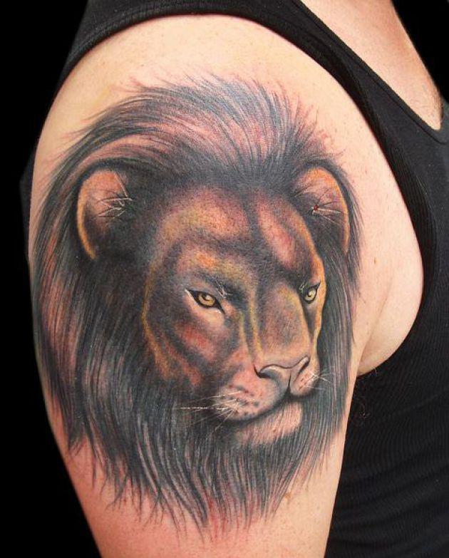 Lion Face Tattoo Design