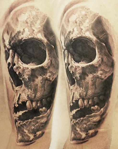 Realism Skull Tattoo Designs