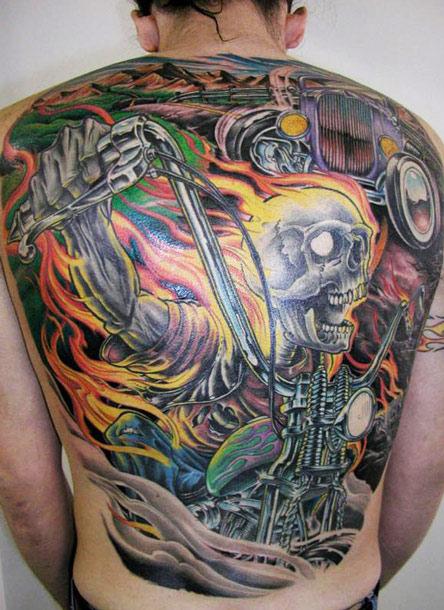 Girls Wallpaper Ideas Cool Full Back Skull Tattoo By James Tex Design Of