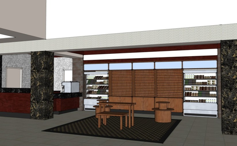 Hotel Coffee Bar and Gift Shop Concept