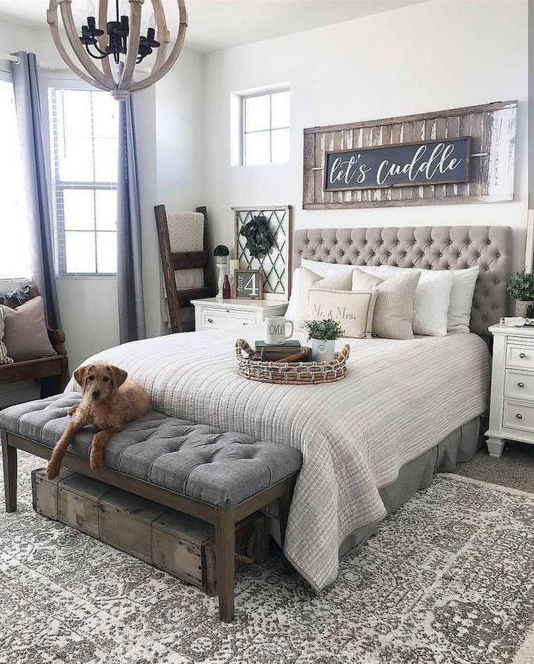 38 Fabulous Modern Farmhouse Bedroom Decorating Ideas Rustic Master Bedroom Master Bedrooms Decor Remodel Bedroom