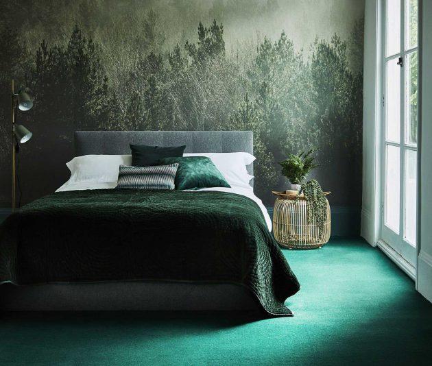44+ Green Bedroom Designs Images