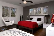 Bedroom Decorating Ideas Red And Gray