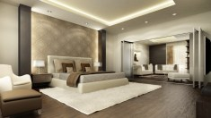 Bedroom Design Brown And Cream