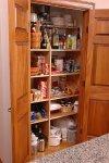 Brown Counter Kitchen Pantry