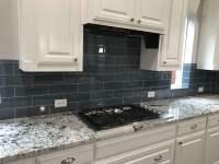 Metallic Backsplash Kitchen Pantry