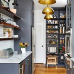 Blue Kitchen Pantry Cabinet