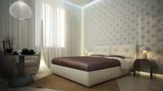 White Bedroom Wall Design