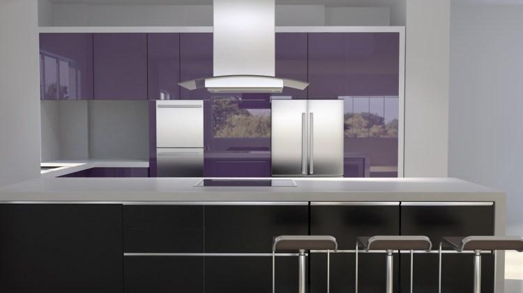Purple Kitchen Ideas Designed In Feminine Style Home Design Decor Idea
