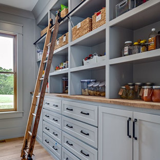 75 Beautiful Kitchen Pantry With Wood Countertops Pictures Ideas January 2021 Houzz