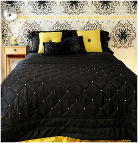 Yellow Bedroom Loft Style Black And White New York Kylie Minogue Bedroom Decorating Ideas