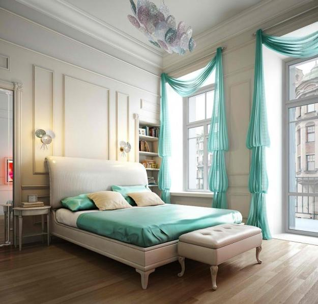 Bedroom Decorating Ideas Turquoise Curtains Bedding Use Blue Color Modern Interior Design Decorpad