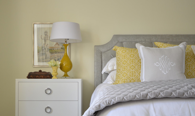 Yellow And Gray Bedroom Design Transitional Bedroom Meredith Heron Design