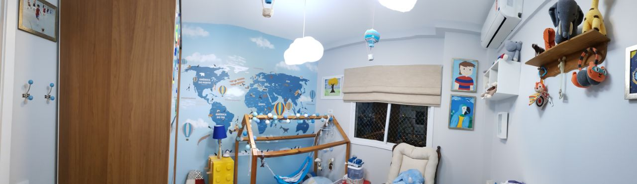 papel de parede mapa mundi Infantil 18-D4 personalizado