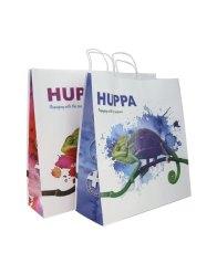Huppa bag with twisted handles and CMYK print