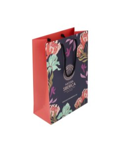 Natura Siberica paper bag with matte lamination and rope handles