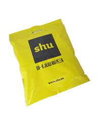 Shu courier bag with die cut handle and seal & peel