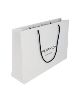 Rope handle paper bag without lamination