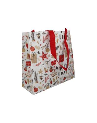 Jõuluteemaline taaskasutatud plastikust non-woven kott