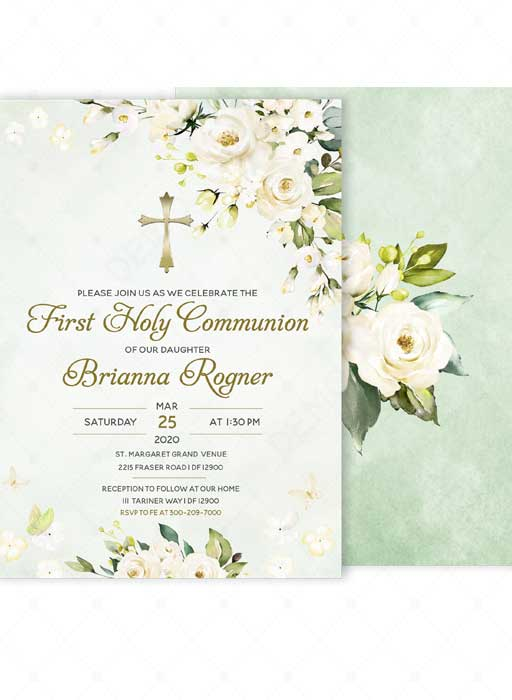 first holy communion invitation templates
