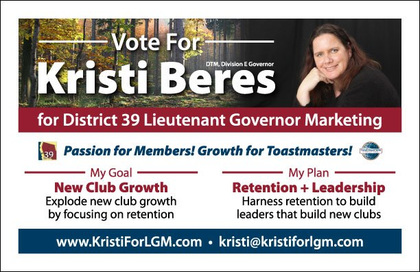 Political campaign flyer for Kristi Beres