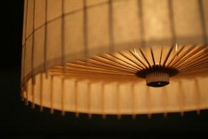 照明器具デザイン事例の和傘照明
