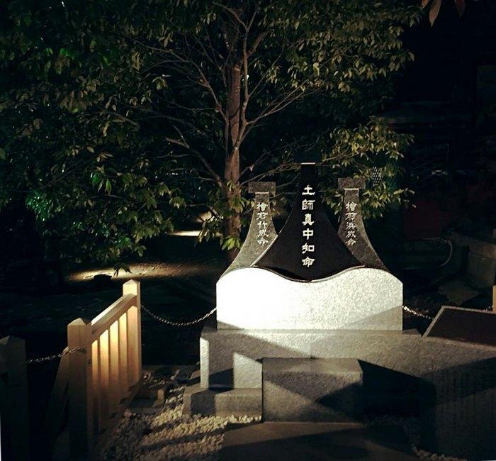 石碑の照明デザイン事例