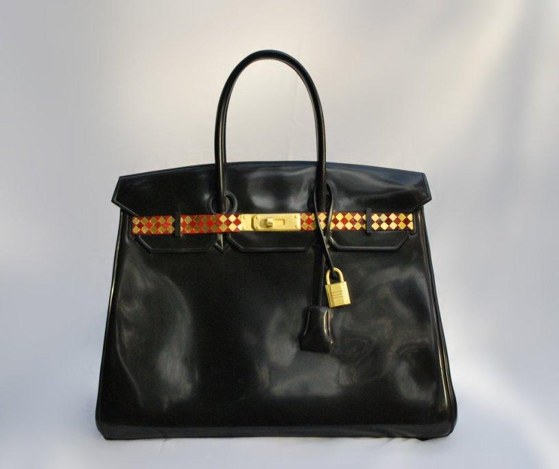 Design Peeper- Barbara Segel's Marble Hermes Bags