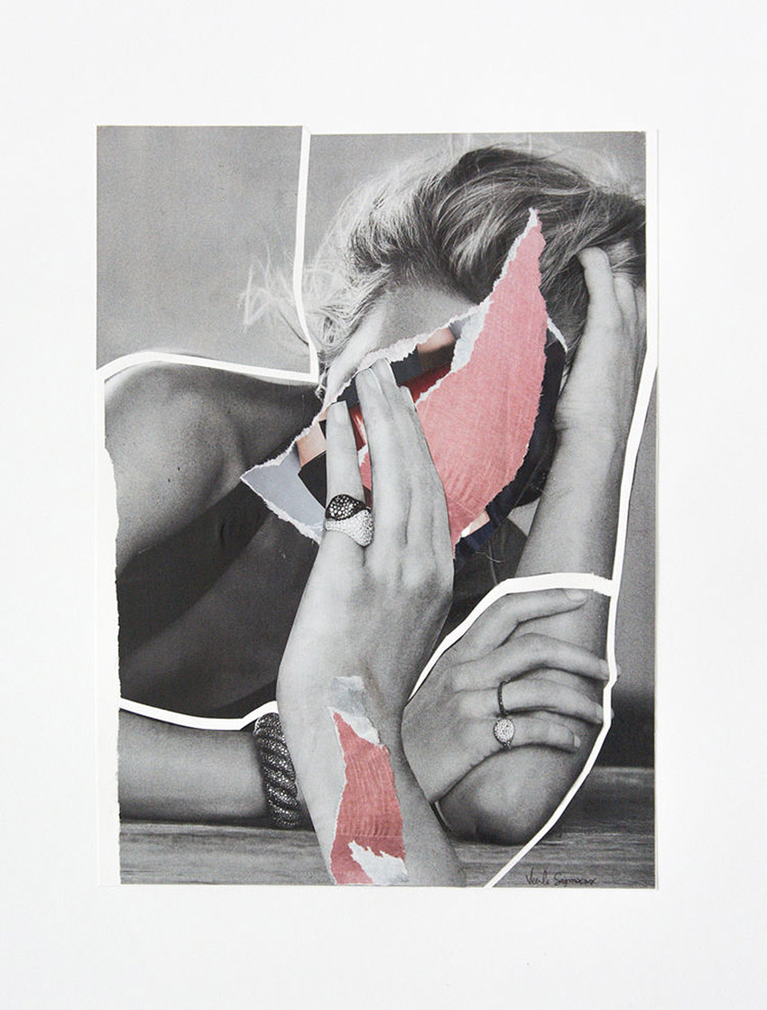 Mixed Media Collages by Veerle Symoens