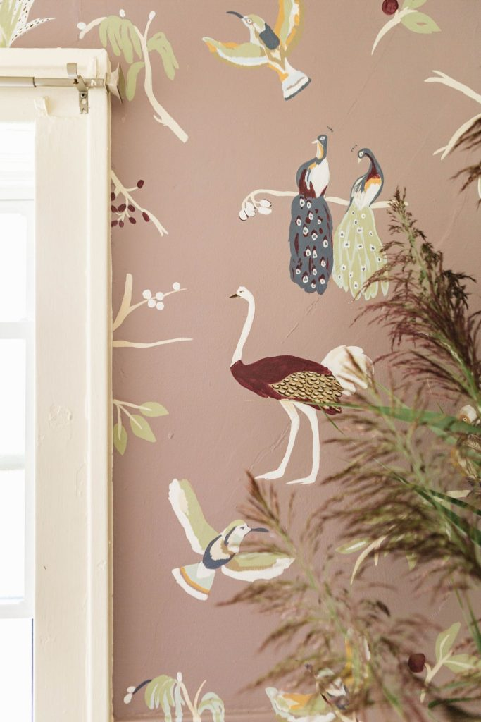 Hand Painted animal wallpaper