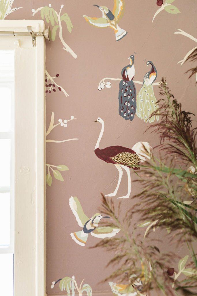 Hand Painted animal wallpaper