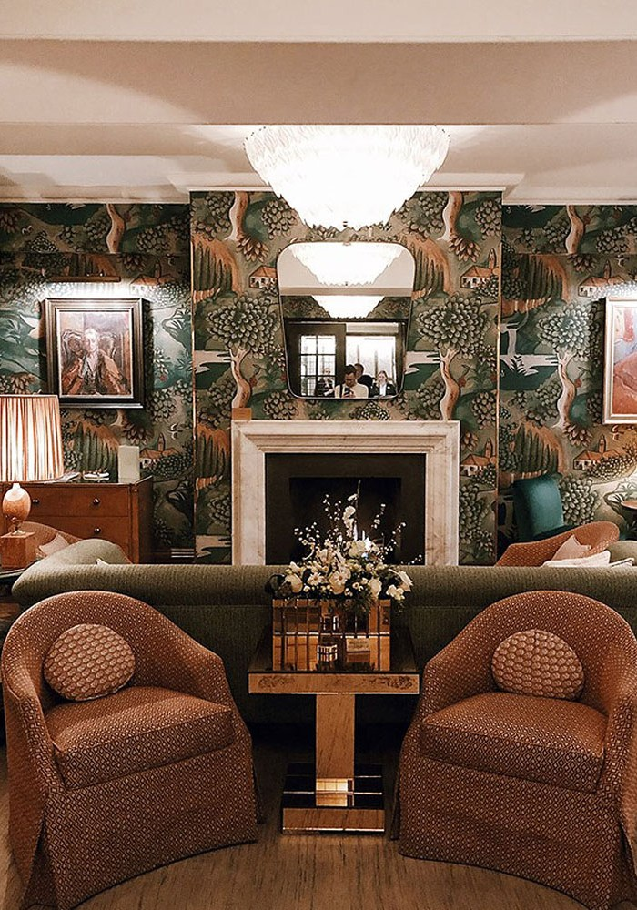 Modern Art-Deco Interior at  The Bloomsbury Hotel