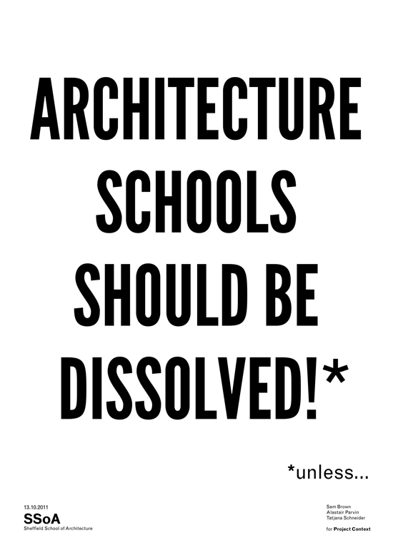 Architecture Schools should be dissolved