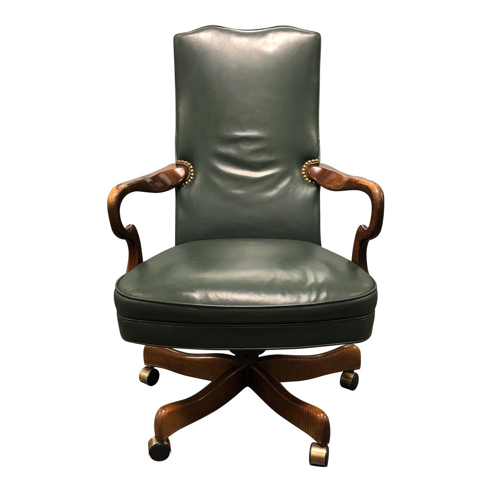 wooden leather desk chair philippe starck ghost green wood swivel office design plus gallery