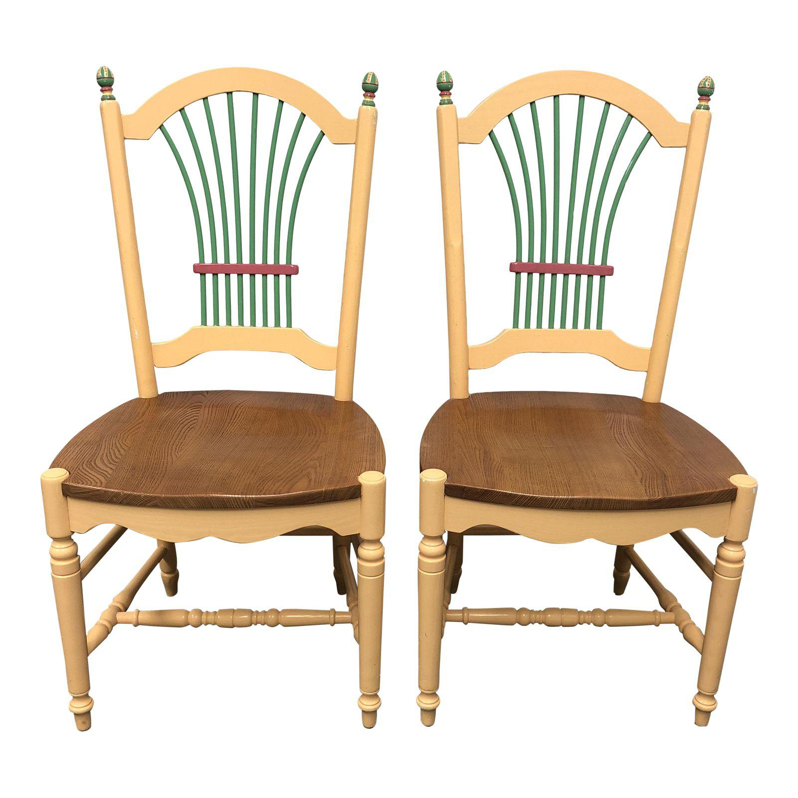 hand painted wooden chairs reclining patio side a pair design plus gallery