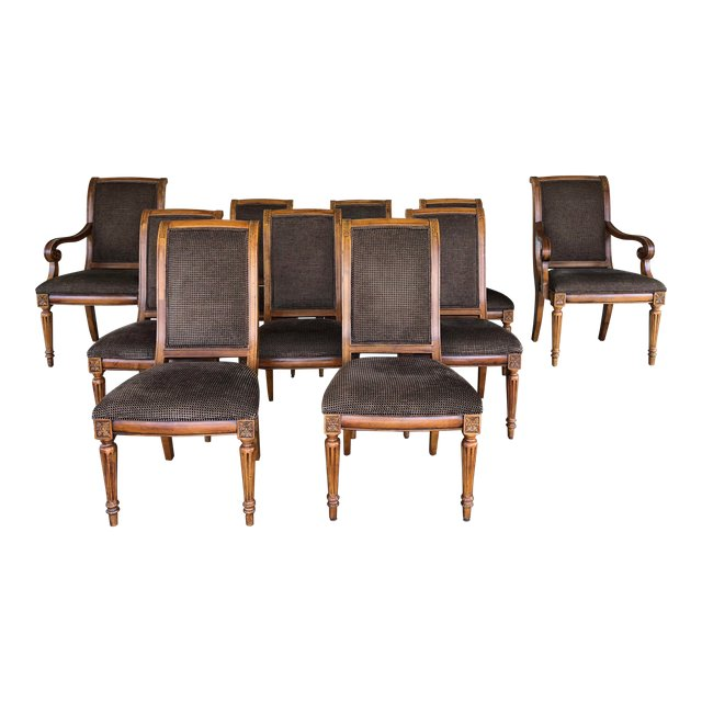 ethan allen dining room chairs devon chair covers new zealand set of 10 design plus gallery