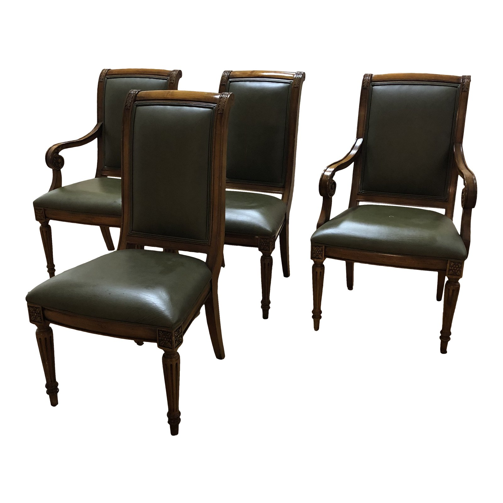 Ethan Allen Club Chairs Ethan Allen Leather Adison Chairs Set Of 4 Original Price 2 876 Design Plus Gallery