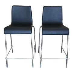 Blu Dot Chairs Office Leather Chair Counter Stool Set Of Two Original Price 498 Design Plus