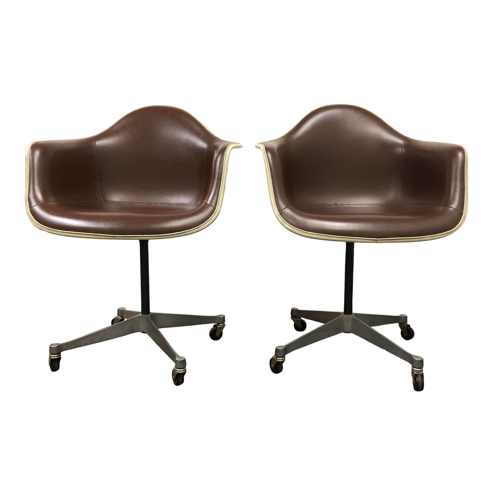 eames bucket chair bobby knight throws pair of herman miller chairs design plus gallery