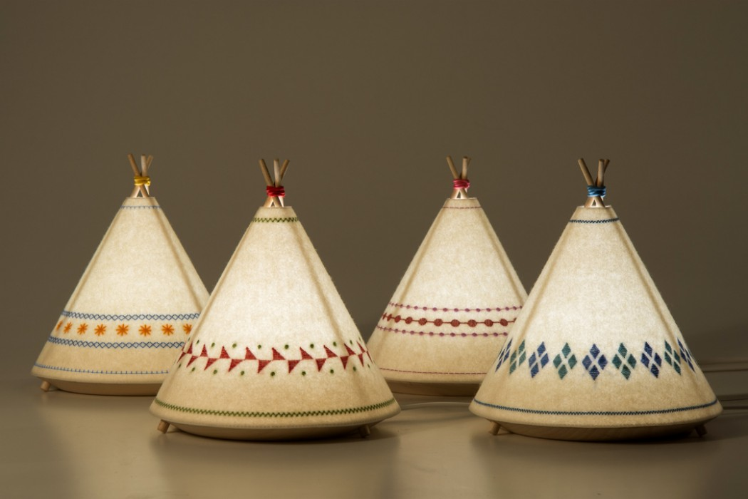 Tipi Lamp by Javier Herrero Studio  Design