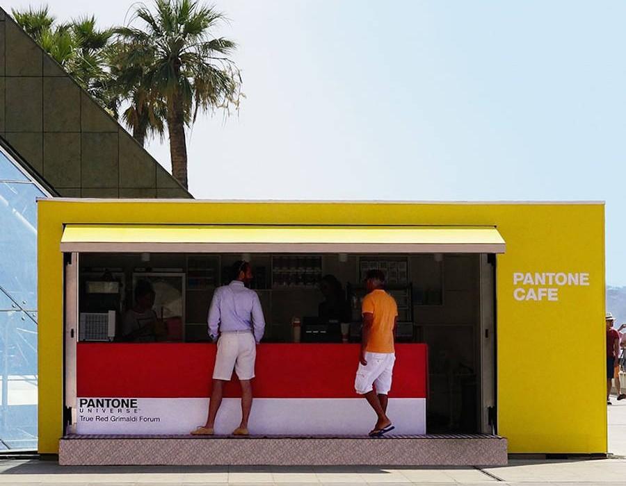 Pantone Pop Up Cafe in Monaco  Design