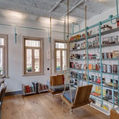 Swing Chair Restaurant Folding Banana Lounge Fil Books: Book Store & Coffee Shop In Istanbul   Design