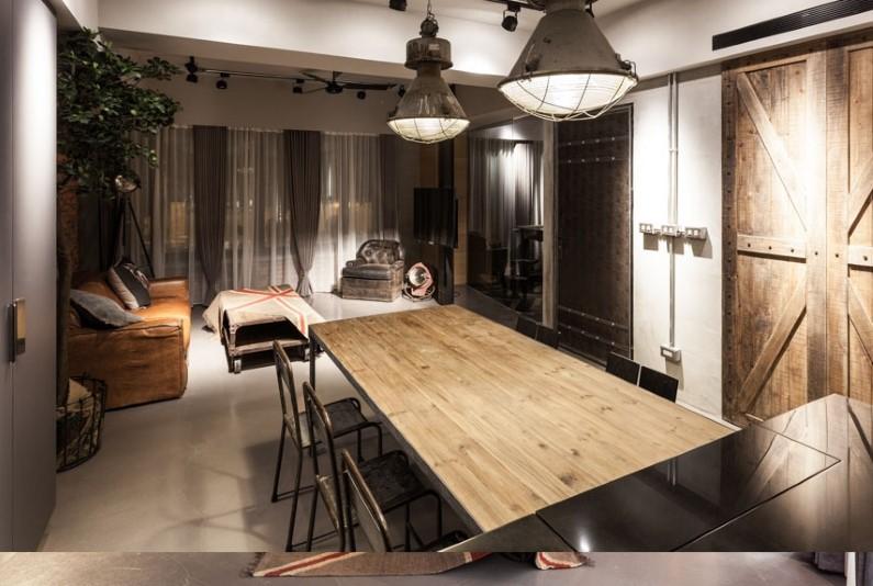 Industrial Apartment in Taipei  Design